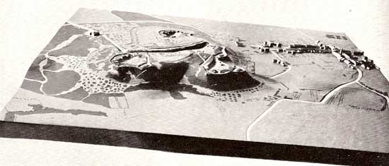 Terrain model of the fortification of Metz (France)