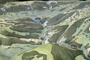 Model of the Jura around Moutier from Heim